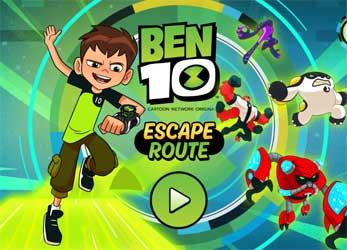 Jogo Ben 10 Escape Route 2016