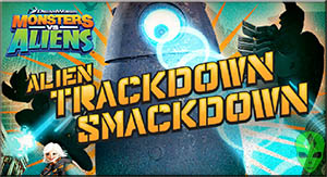 Game Monsters vs Aliens Trackdown Smackdown