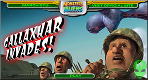 Game Monsters vs Aliens Gallaxhar Invades