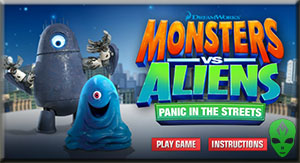 Game Monsters vs Aliens Panic in the  Streets
