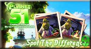 Game Planet 51 Spot the Difference