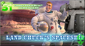 Game Planet 51 3D Land Chuck Spaceship